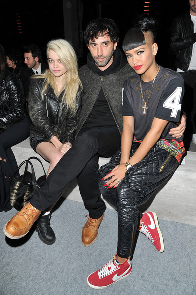 Cassie-Ventura-Givenchy-Pre-Fall-2012-Collection-T-shirt-at-Kanye-West-Show-Paris-3