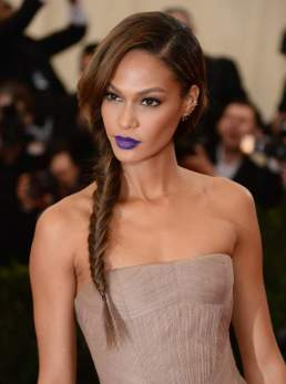 Joan-Smalls-blue-lipstick-braid-Met-Gala-2014
