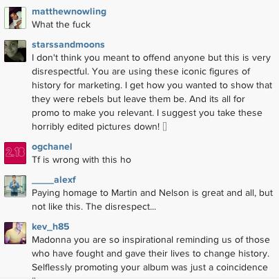 Madonna IG comment King