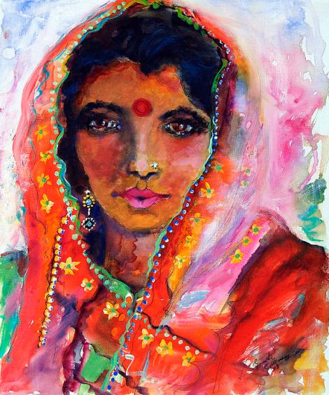 women-with-red-bindi-by-ginette-ginette-callaway