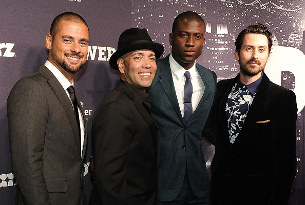 """NEW YORK, NY - JUNE 02:  J.R. Ramirez, Luis Antonio Ramos, Sinqua Walls and Andy Bean attend the """"Power"""" Season Two Series Premiere at Best Buy Theater on June 2, 2015 in New York City.  (Photo by Daniel Zuchnik/WireImage)"""