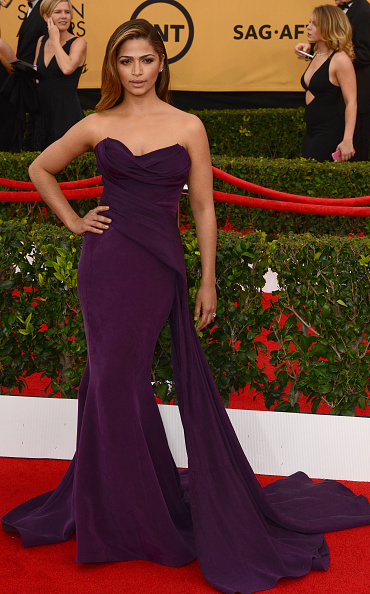 LOS ANGELES, CA - JANUARY 25:  Model Camila Alves attends the 21st Annual Screen Actors Guild Awards at The Shrine Auditorium on January 25, 2015 in Los Angeles, California.  (Photo by C Flanigan/Getty Images)