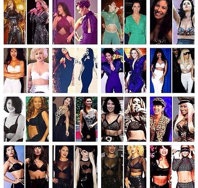 selena style collage