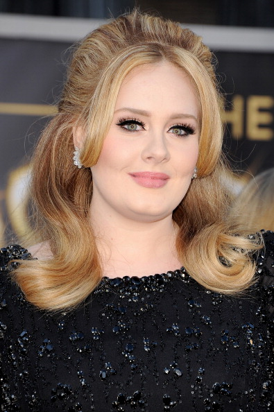 HOLLYWOOD, CA - FEBRUARY 24: Ainger Adele arrives at the Oscars at Hollywood & Highland Center on February 24, 2013 in Hollywood, California. (Photo by Steve Granitz/WireImage)